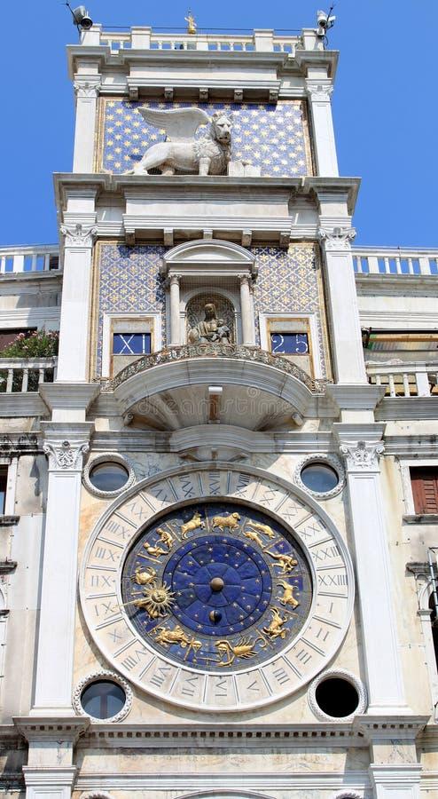 Dell Orologio van Torre of St Tekens Clocktower, Venetië stock afbeeldingen