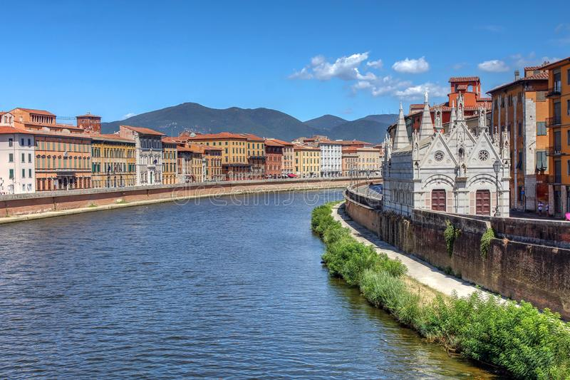Della ράχη, Πίζα, Ιταλία της Σάντα Μαρία στοκ φωτογραφία με δικαίωμα ελεύθερης χρήσης