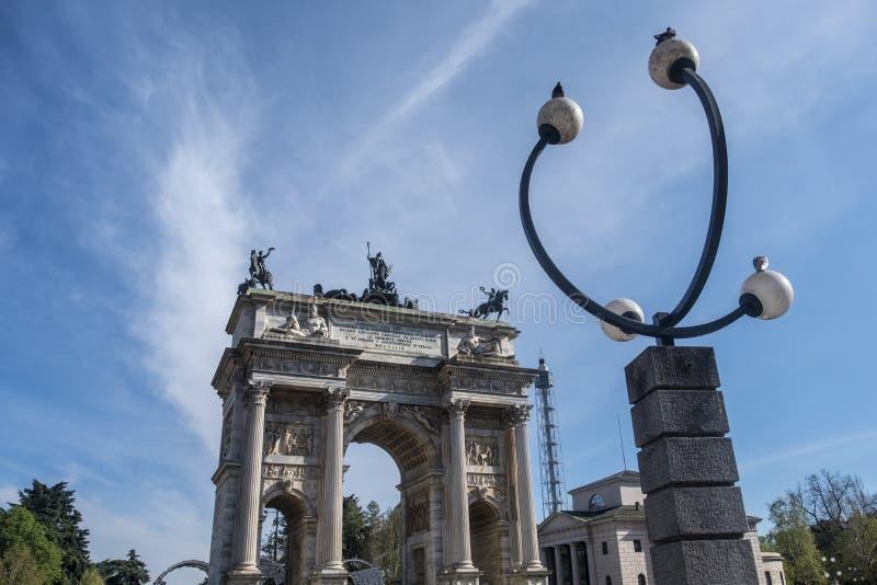 Милан, Италия: Побежка della Arco стоковое фото rf