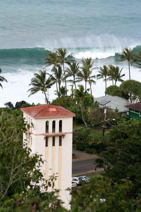 della baia dell'Hawai waimea scenico del puntello a nord fotografia stock libera da diritti