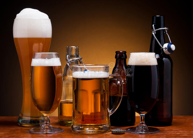 Della birra vita ancora fotografia stock libera da diritti