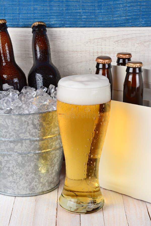 Della birra vita ancora immagine stock