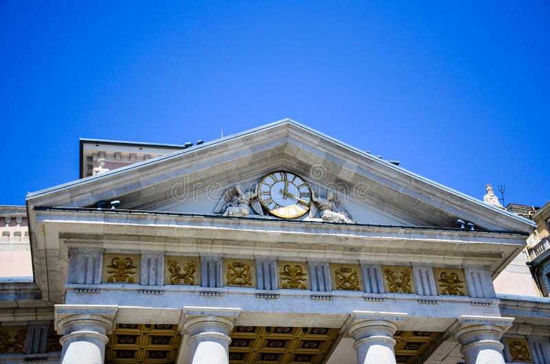 Della Borsa, Triest de Piazza photos stock