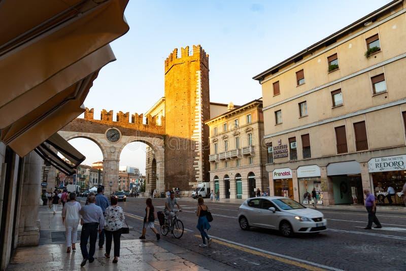 Della Brà de Portoni, Verona, Itália imagens de stock royalty free