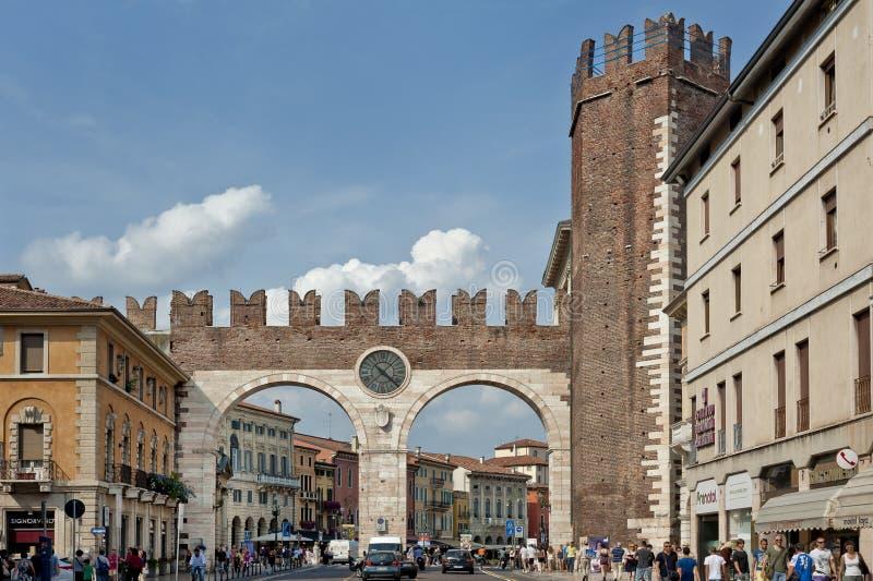 Della BrÃ,Verona, Italia di Portoni fotografia stock libera da diritti