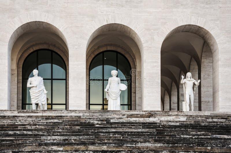 Della Civilt? Italiana de Palazzo imagenes de archivo