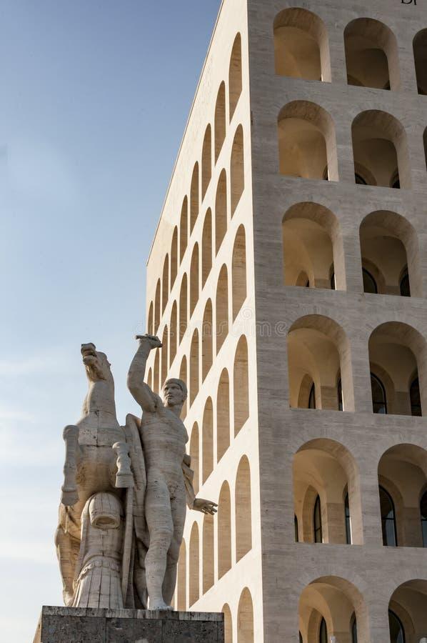 Della Civilta Italiana de Palazzo fotografía de archivo