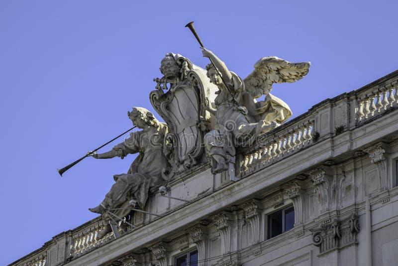 Della Consulta, sedile della corte costituzionale italiana, Roma, Italia di Palazzo fotografia stock