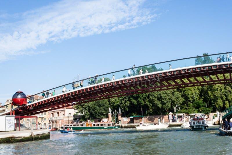 Della Costituzione van Ponte van de grondwetsbrug stock afbeelding
