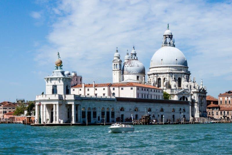 Della Dogana - Di Santa Maria della Salute de Punta de basilique image libre de droits