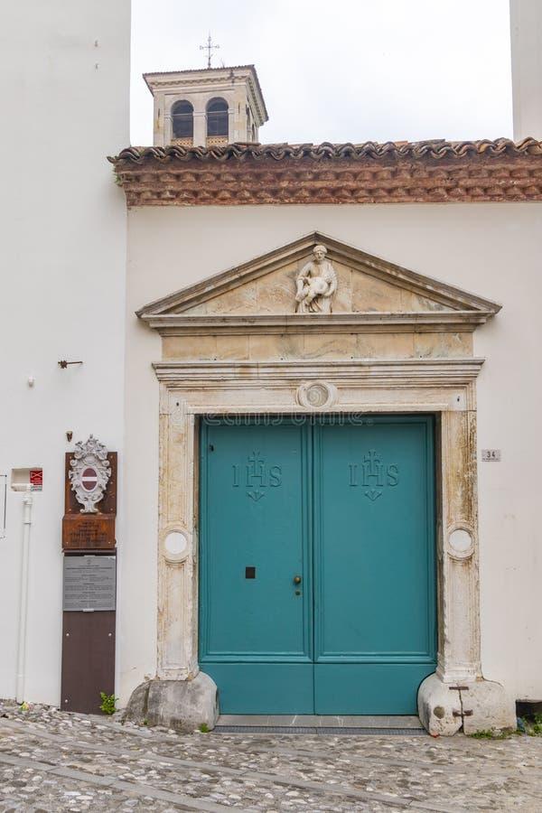 Della Gastaldaga da área, Cividale Del Friuli, Friuli-Venezia Giulia, Itália foto de stock