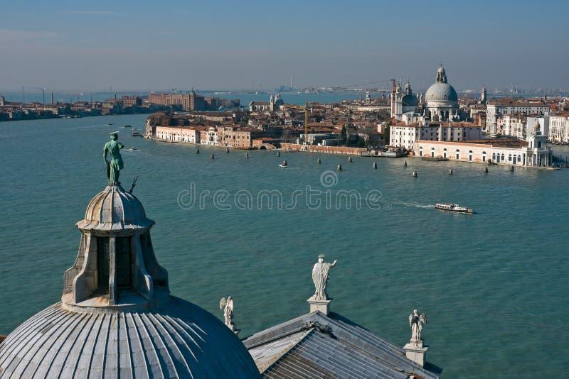 Della Giudecca van Canale in Venetië stock afbeelding