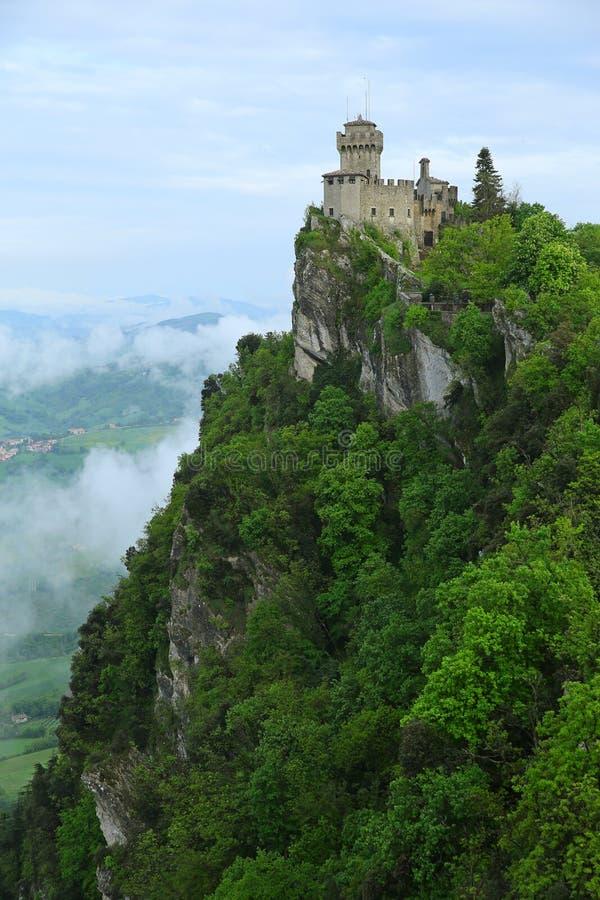 Della Guaita, la fortaleza más antigua de Rocca de San Marino, AIE imagen de archivo libre de regalías