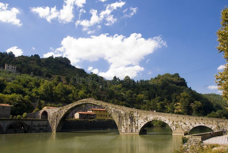 della Italy Maddalena ponte Tuscany fotografia stock