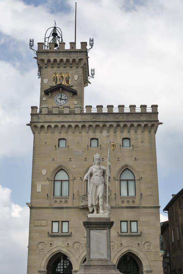 Della Liberta della piazza a San Marino fotografia stock