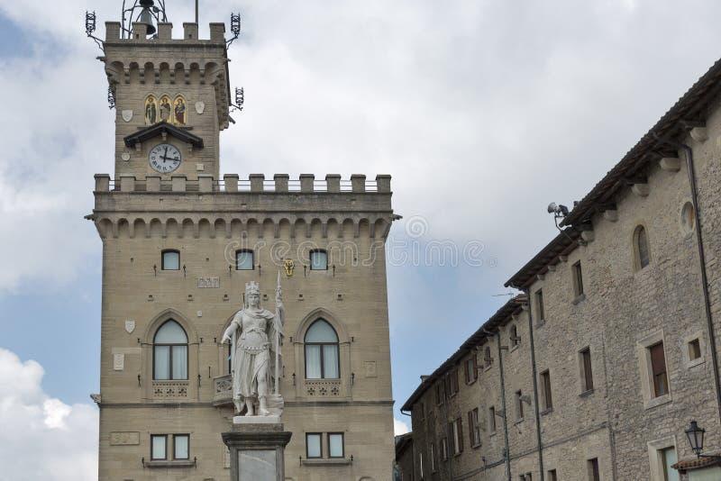 Della Liberta della piazza a San Marino immagine stock libera da diritti