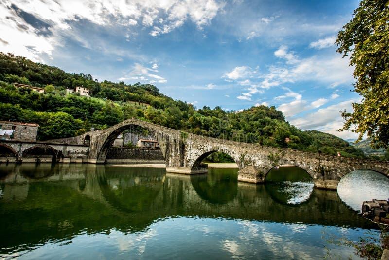 Della Maddalena van duivels brug-Ponte royalty-vrije stock afbeeldingen