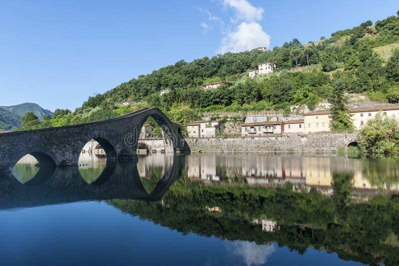Della Maddalena van Ponte (Luca, Toscanië) stock fotografie