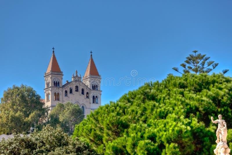 Della Madonna di Montalto, Messina, Sicilia, Italia di Santuario immagine stock