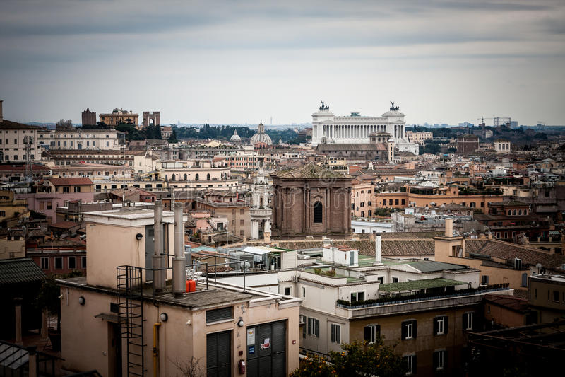 Della Patria de Altare, panorama Roma imagem de stock royalty free