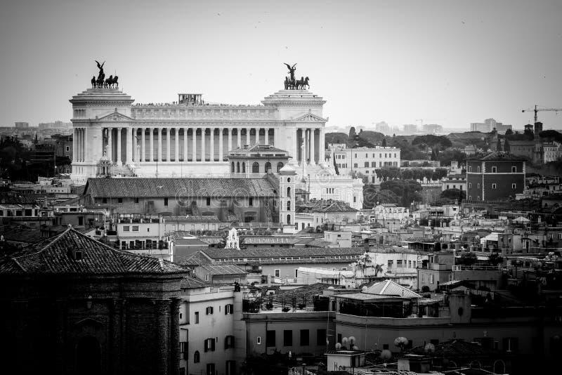 Della Patria de Altare, panorama Roma foto de stock royalty free