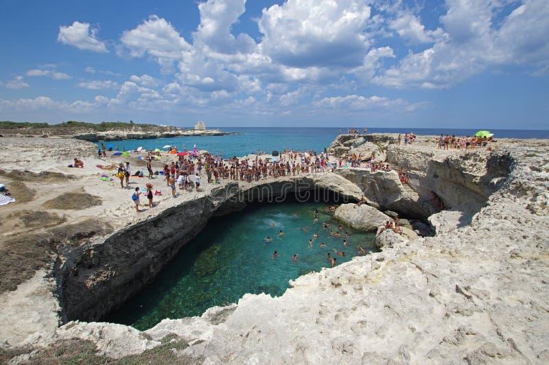 Della Poesia, Salento, Italie de Grotta images libres de droits