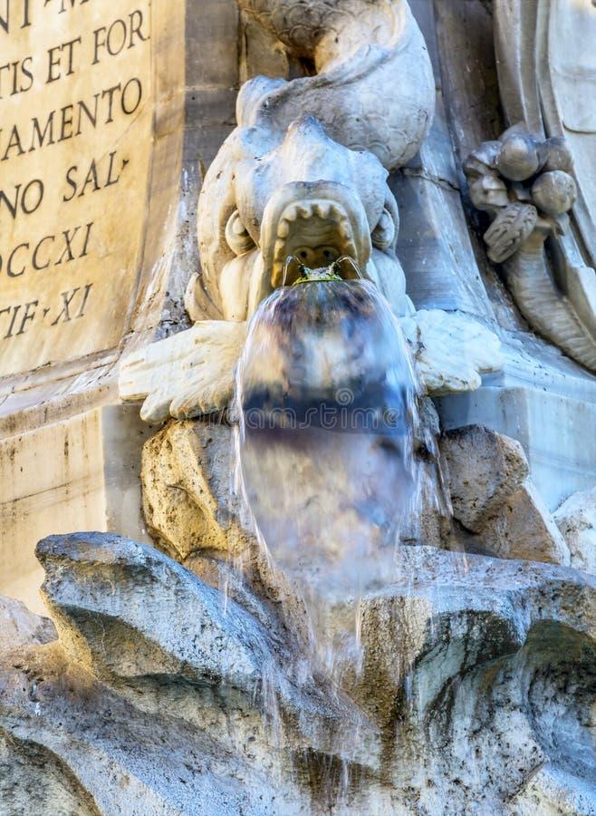 Della Porta Fish Fountain Piazza Rotunda Rome Italy. Della Porta Fish Fountain Piazza della Rotunda Rome Italy. Fountain created in 1575 by Giacomo Della Porte royalty free stock images