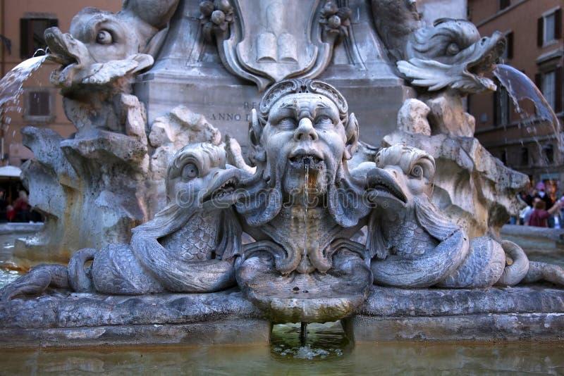 Della Porta Fountain Piazza Rotunda Rome Italië stock afbeelding