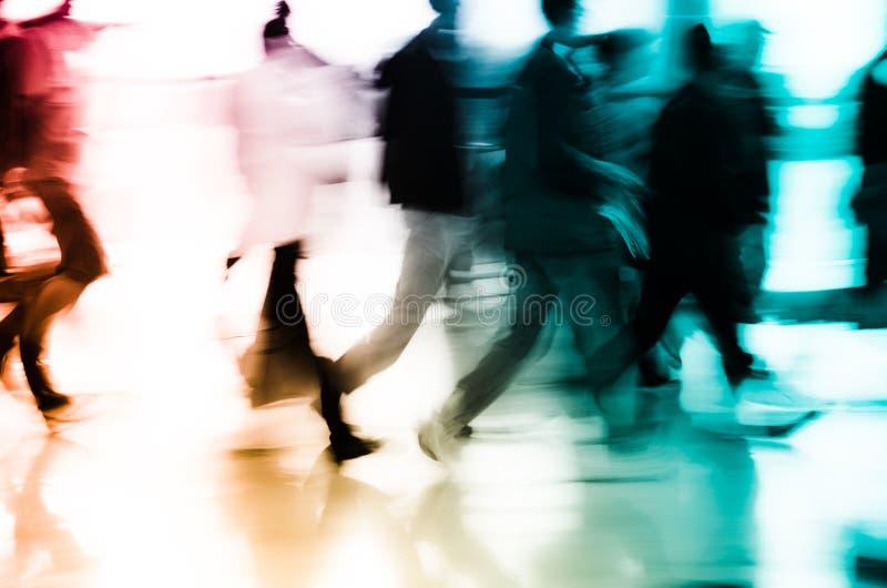 Della priorità bassa astratta della città gente di affari fotografia stock libera da diritti