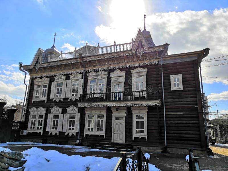 Della proprietà, la vecchia costruzione di legno fotografia stock