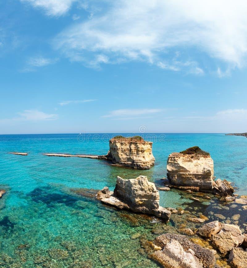 Della Punticeddha, Salento, Italia de Spiaggia de la playa del mar fotos de archivo libres de regalías
