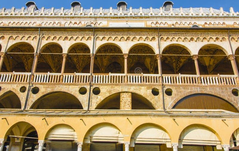 Della Ragione Padoue Italie de Palazzo Lieu public images stock