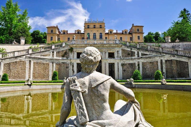 Della Regina da casa de campo em Turin, Piedmont. Itália foto de stock