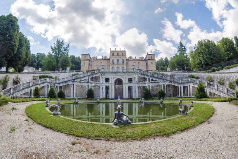 Della Regina del chalet en Turín, Italia foto de archivo libre de regalías