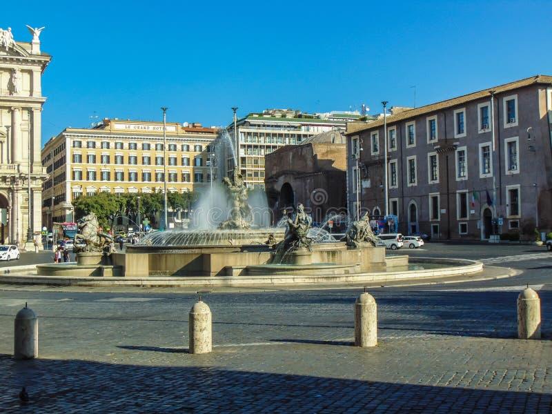 Della Republica, Rome - Italie de Piazza image libre de droits