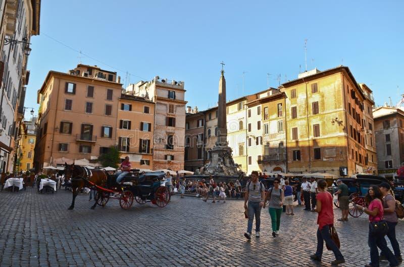Della Rotonda da praça, Roma foto de stock