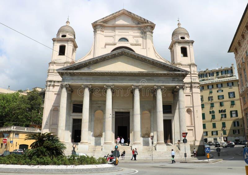 Della Santissima Annunziata del Vastato della basilica a Genova, Italia fotografia stock libera da diritti