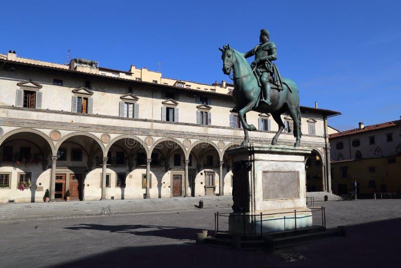 Della Santissima Annunziata della piazza a Firenze, Italia fotografie stock libere da diritti