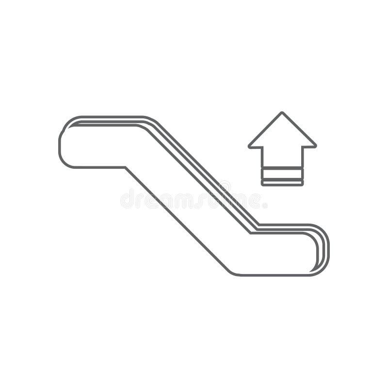 Della scala mobile icona gi? Elemento dell'aeroporto per il concetto e l'icona mobili dei apps di web _profilo, sottile linea ico royalty illustrazione gratis