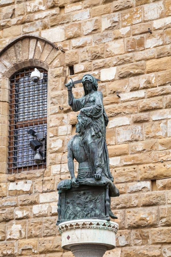 Della Signoria da praça com Palazzo Vecchio em Florença imagem de stock