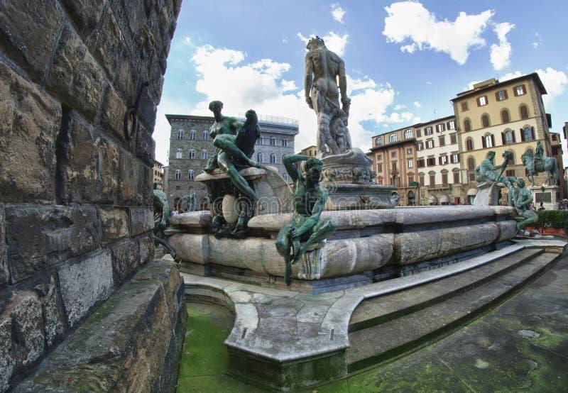 Della Signoria de la plaza en Florencia, Italia fotografía de archivo