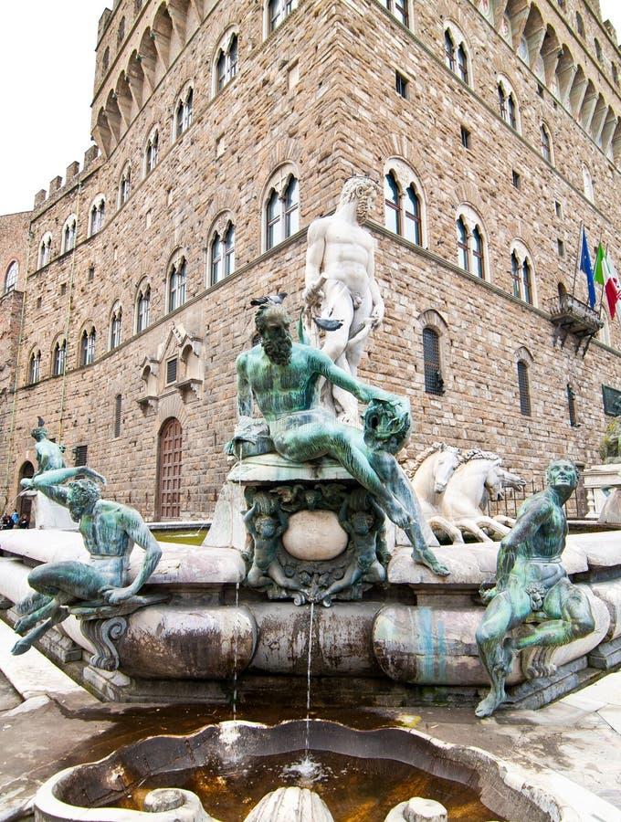 Della Signoria, Florencia de la plaza imagen de archivo libre de regalías