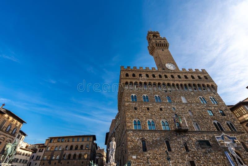Della Signoria - Palazzo Vecchio Florença Italia da praça imagem de stock