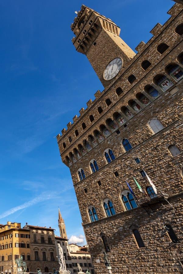 Della Signoria - Palazzo Vecchio Florença Italia da praça foto de stock royalty free