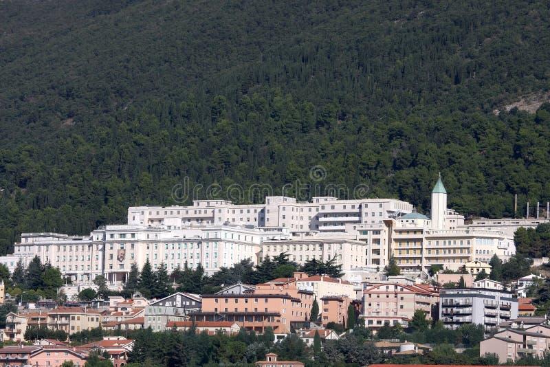 Della Sofferenza Sollievo Касы (больница), Италия стоковое изображение