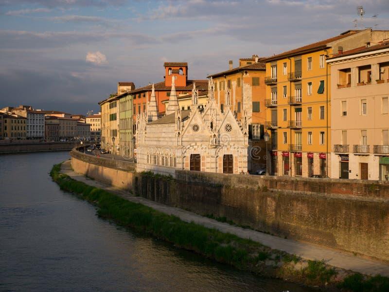 Della Spina Santa Maria di Chiesa, Пиза стоковые фотографии rf