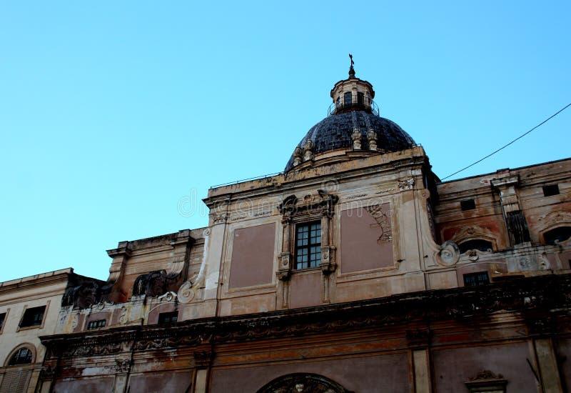Della Vergogna da praça Pretoria ou da praça, Palermo, Sicília imagem de stock