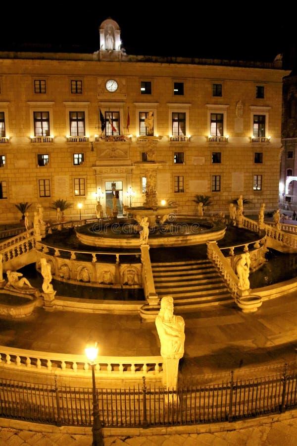 Della Vergogna da praça Pretoria ou da praça, Palermo, Sicília imagem de stock royalty free