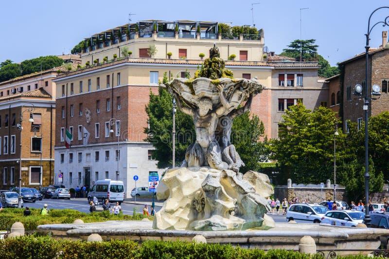 Della Verita (place de l'Italie, de Rome, du Piazza Bocca de la bouche de la vérité) et les tritons images stock