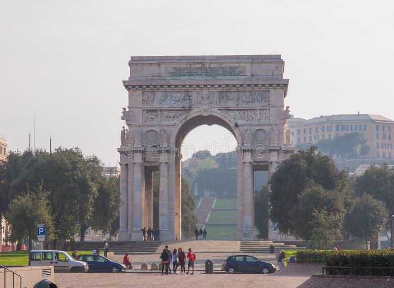 Della Vittoria Genoa di Arco fotografia stock